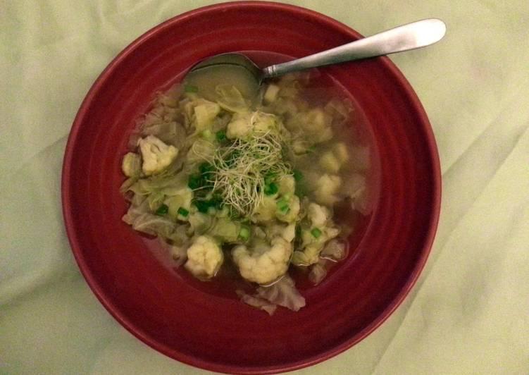 White vegetable soup
