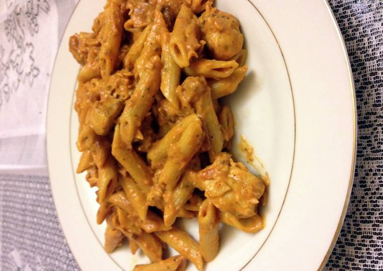 Step-by-Step Guide to Prepare Homemade Penne Alla Vodka With Grilled Chicken