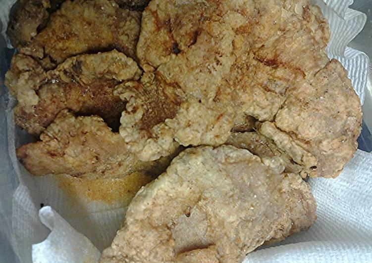 Deep fried thin chops