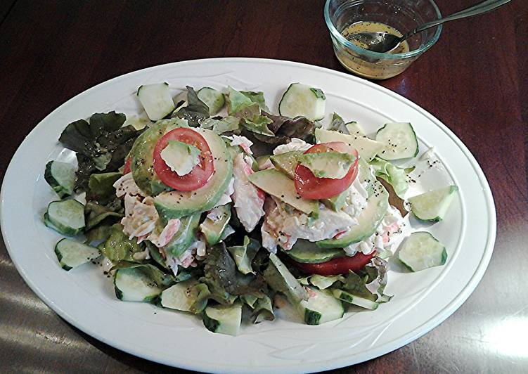 Steps to Prepare Any-night-of-the-week Avocado and Crab Stacked Salad