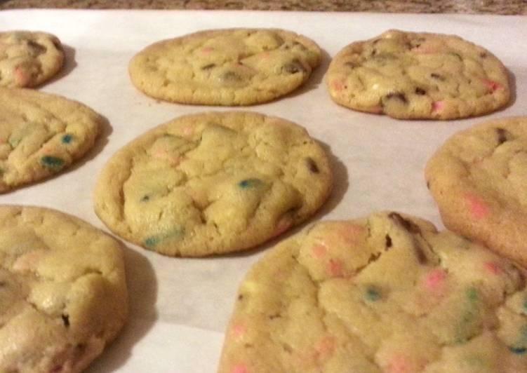 Chocolate chip Birthday cake cookies