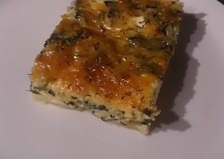 Recipe of Super Quick Homemade Spinach and feta quiche