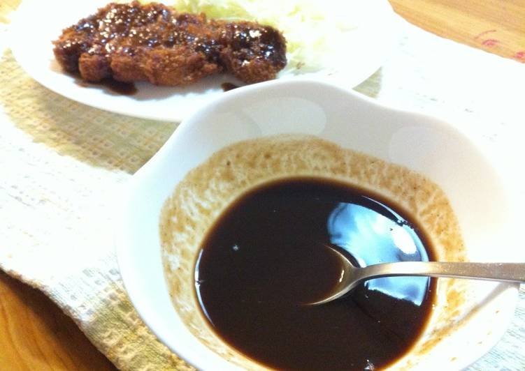 Easy Tonkatsu Sauce Recipe By Cookpad Japan Cookpad