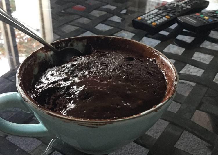 Nutella Microwave Mud Cake