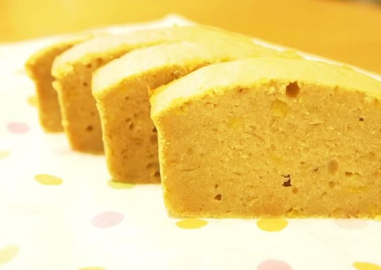 Super Easy! Chewy Rice Flour Banana Cake