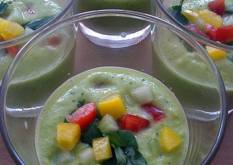 Recipe: Appetizing Vickys Green Gazpacho, GF DF EF SF NF