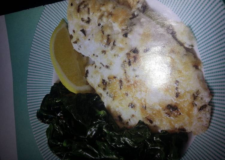 Recipe of Super Quick Homemade Broiled tilapia parmesan