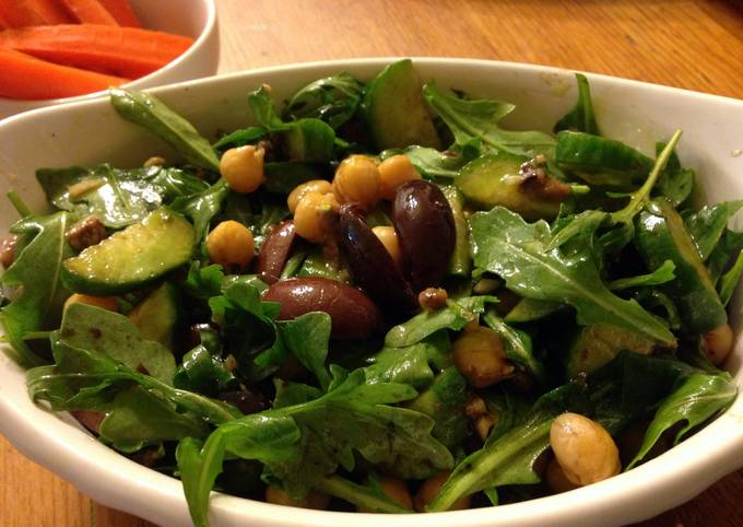 Recipe of Perfect Arugula, Anchovies and Chickpea Salad