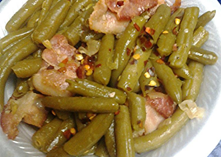 Recipe: Perfect Kickin Green beans