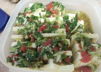 How to Prepare Yummy Moms Marinated Cheese