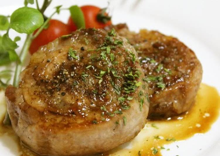 10 Minute Recipe of Vegan Pork Roll Steaks with Thinly Sliced Pork