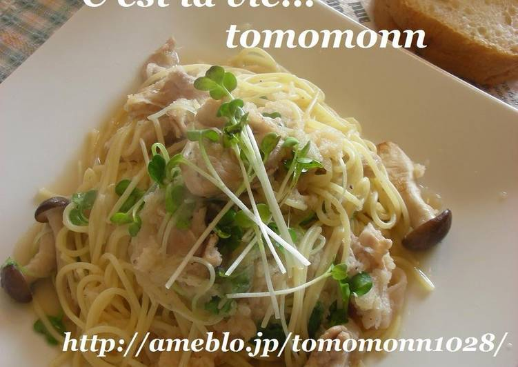 Easiest Way to Make Yummy Pasta with Pork and Grated Daikon