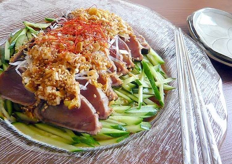 Korean-style Seared Skipjack Tuna