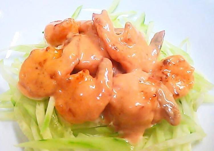 Real Chinese Style Shrimp With Mayo Aurora Sauce Recipe By Cookpad Japan Cookpad