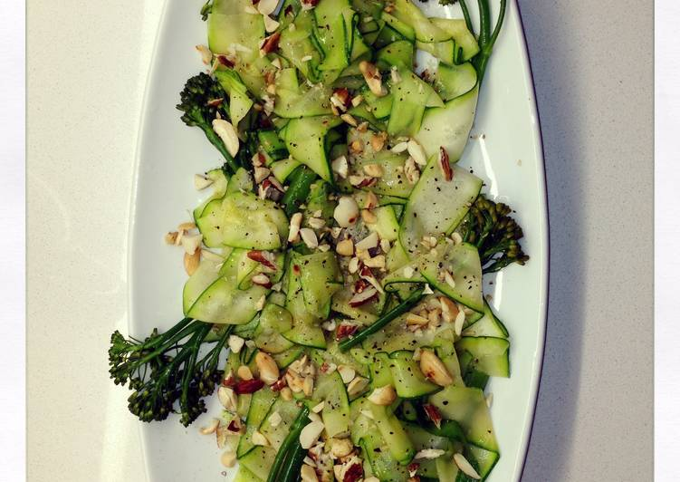 Recipe: Tasty Courgette Ribbon And Baby Broccoli Salad