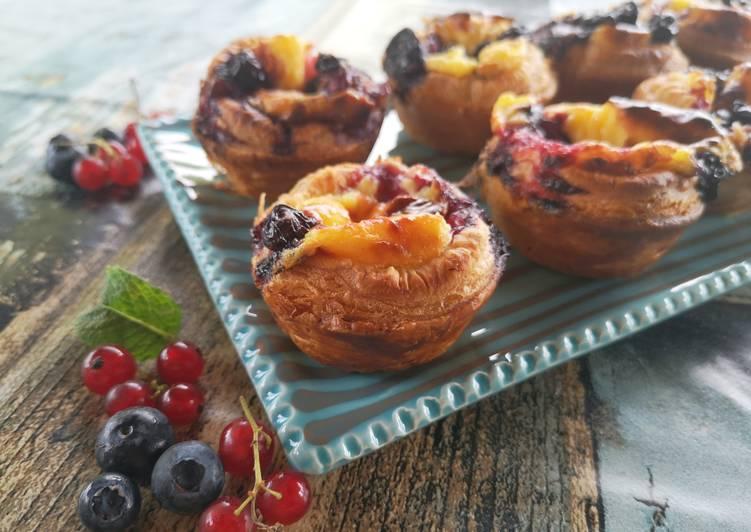 Comment Préparer Des Pâte feuilleté aux fruits