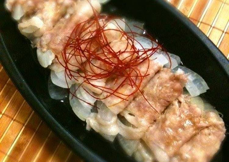 Microwave Sweet Onion and Thinly Sliced Pork Rolls
