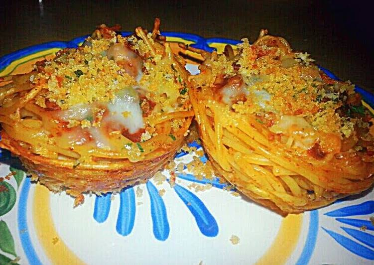 Ray's Game Day Chili Spaghetti Cups