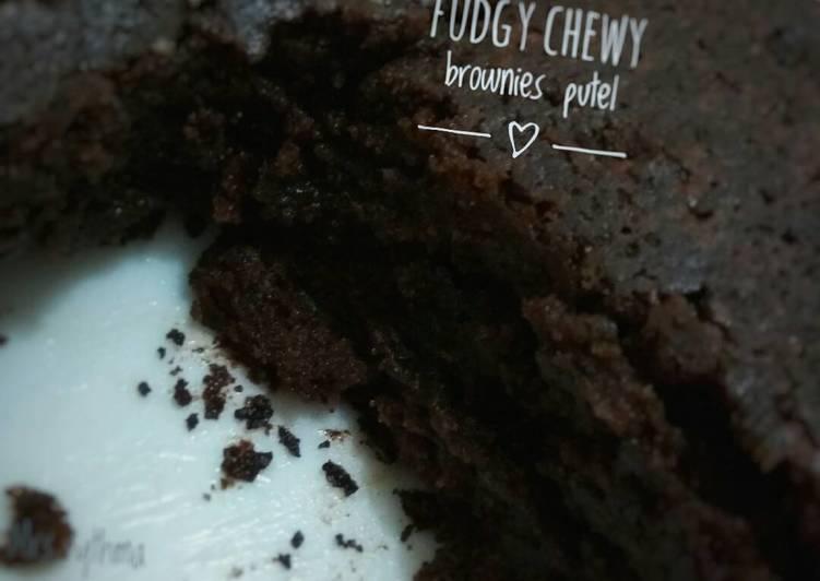 Fudgy Chewy Brownies Putel 🍰🍫