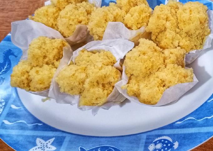 Snack: Bolu Nanas Kukus (14 month+)