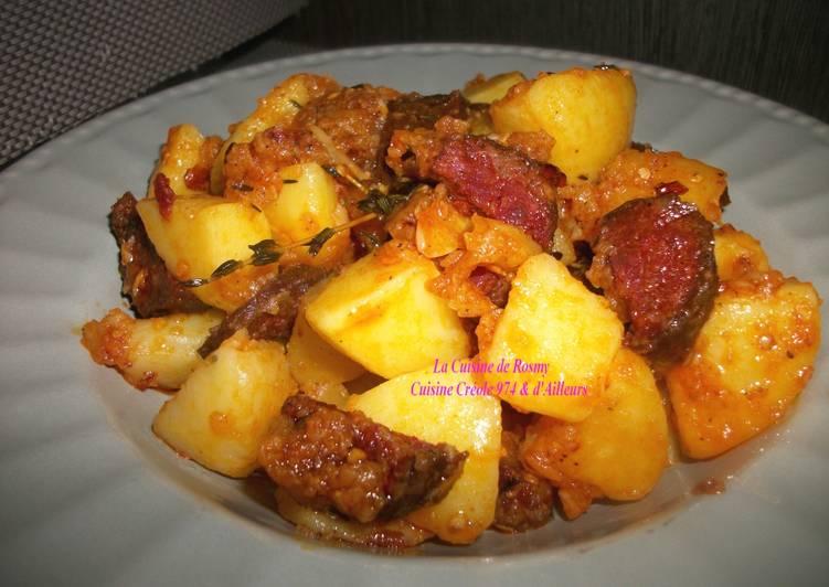 Pommes de terre Sautées à l'ail et au Chorizo
