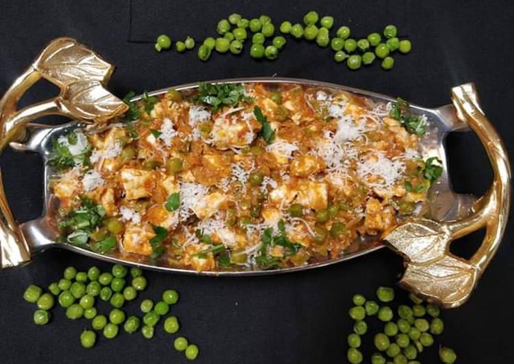 Peas paneer cheese Korma