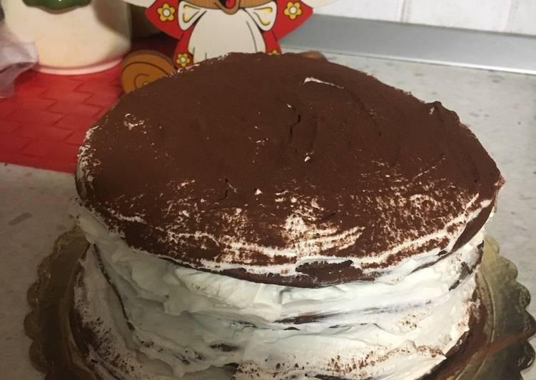 Torta pancake al cacao