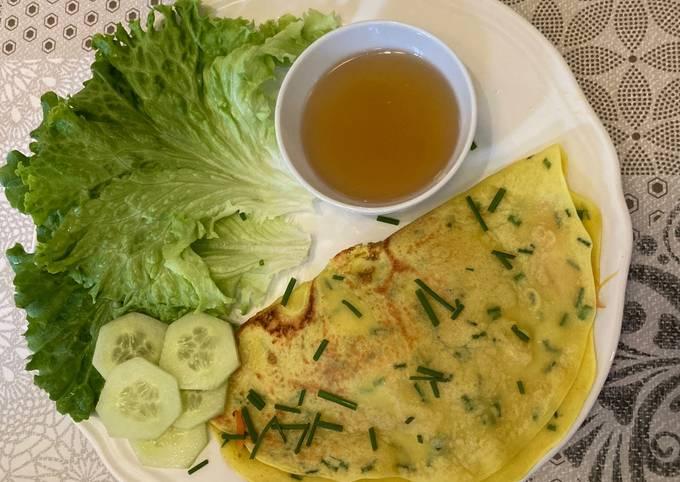 Crêpes vietnamiennes aux crevettes et légumes