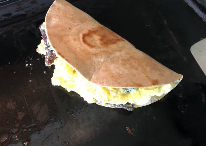 Gyro feta omelette tortilla