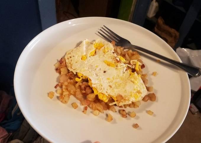 Hunters duck egg breakfast