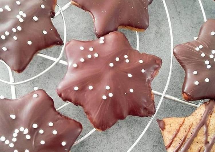 Sablés de Noël au pain d'épices et chocolat