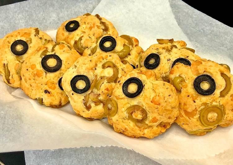 Cookies salés aux olives