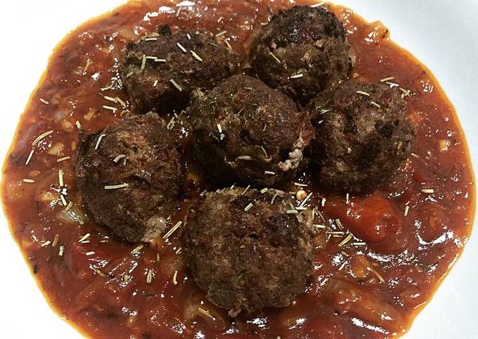Homemade Meatballs with Bolognese Sauce
