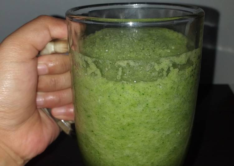 Resep Green smoothies 264kkal (diet)