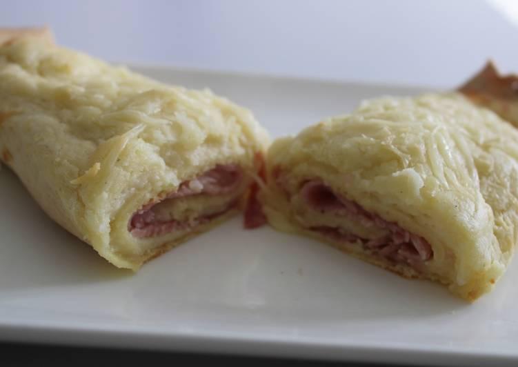 Crêpes jambon béchamel ou ficelles picarde