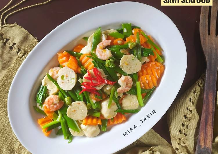 Cah Bungabawang Wortel Sawi Seafood #121