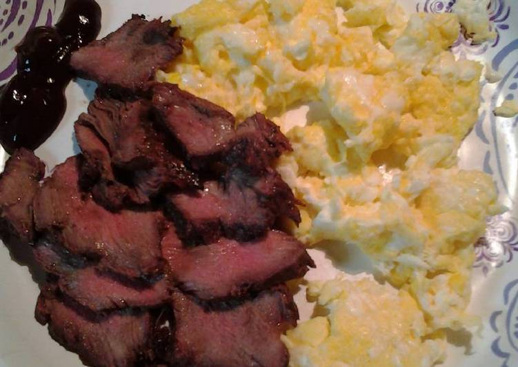 Steps to Prepare Homemade Breakfast steak and eggs