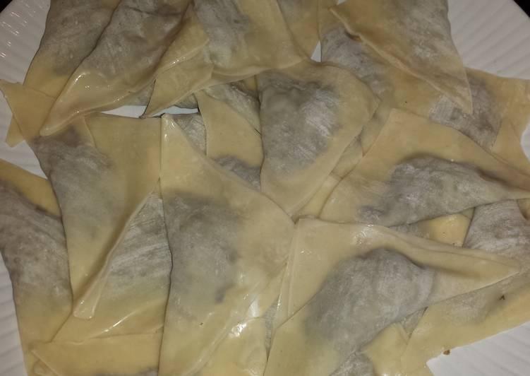 Short cut mushroom ravioli