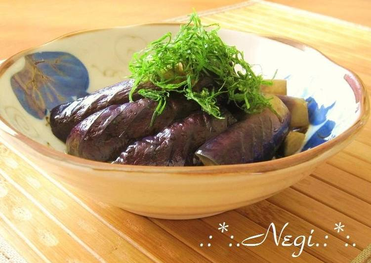 Simple Way to Prepare Any-night-of-the-week Eggplant in Nanban-Vinegar with Shiso Leaves