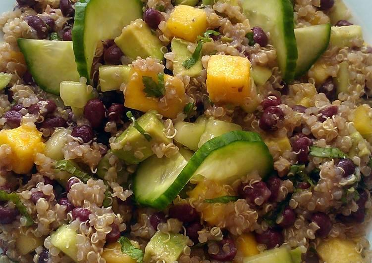 Vickys Aduki Bean, Mango & Quinoa Salad, GF DF EF SF NF