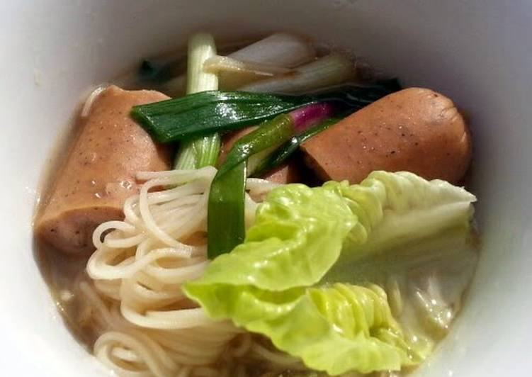 Somen Noodle Soup With Sausages