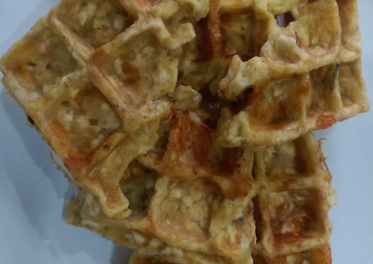 Matzo brie waffle bites