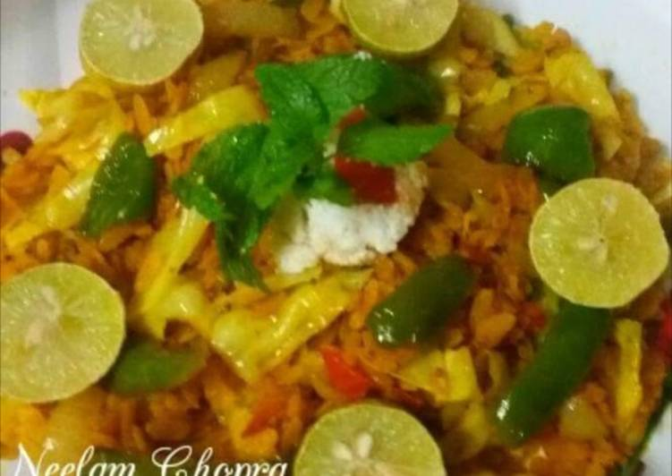 Vegetable Poha - Laurie G Edwards
