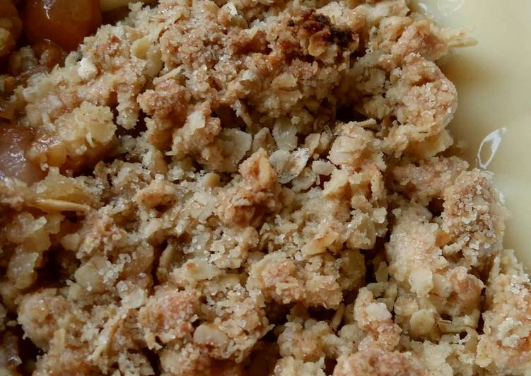 Steps to Make Homemade Vickys Maple Oat Plum Crumble GF DF EF SF NF