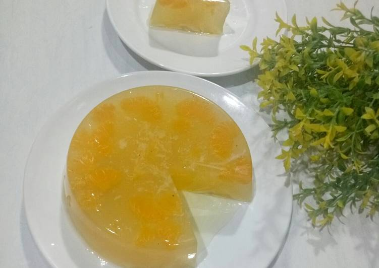Puding Jeruk Mandarin Kelapa Muda