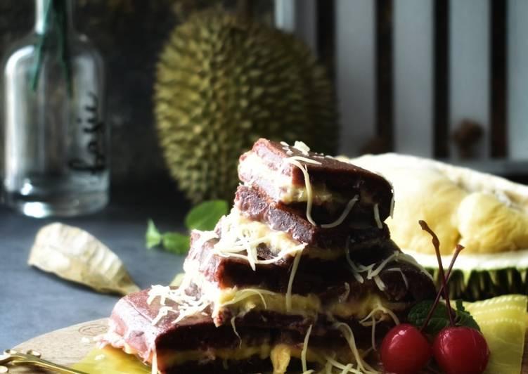 Apam Balik Red Velvet Isi Durian dengan Cheese - resepipouler.com