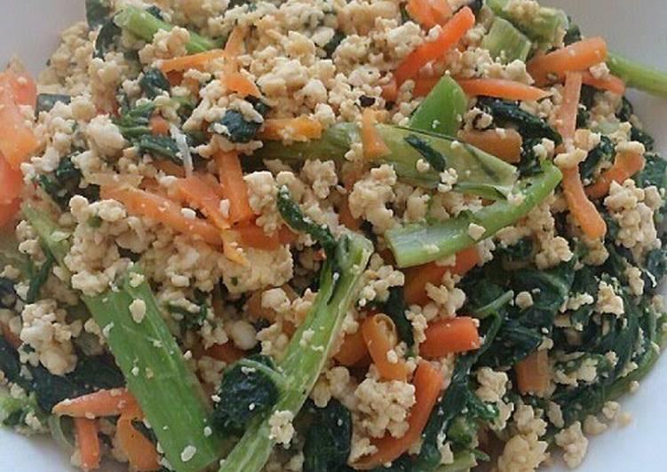 Recipe: Appetizing Soboro Style Tofu & Stir-Fried Vegetables