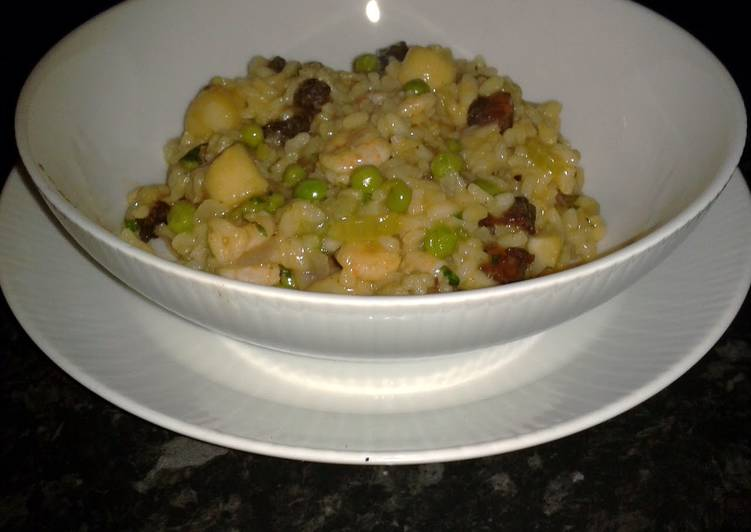 Information on How to Elevate Your Mood with Food Scallop and Prawn Risotto with Chorizo