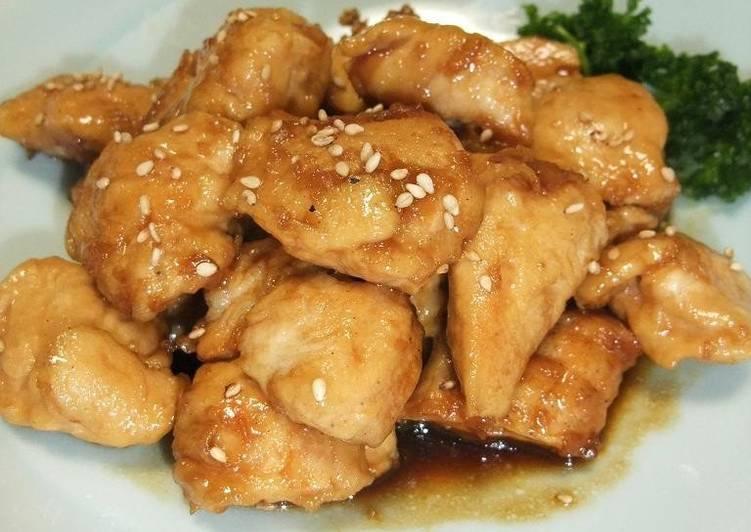 Steps to Prepare Quick Sweet and Salty Chicken Breast (or Chicken Tender) Lemon Stir Fry