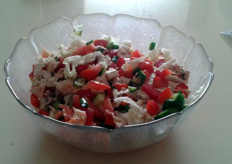 Step-by-Step Guide to Prepare Speedy Tori's Diet Salad with Chicken Breast